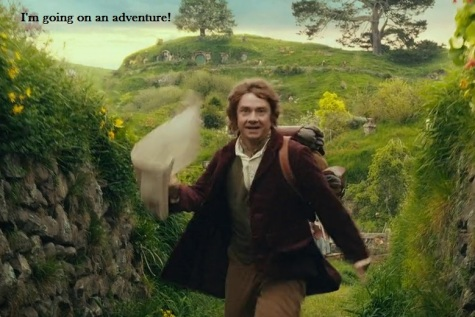 Bilbo going on an adventure