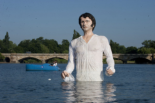 Colin Firth wet shirt statue
