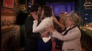 Miranda kiss encouraged by mum
