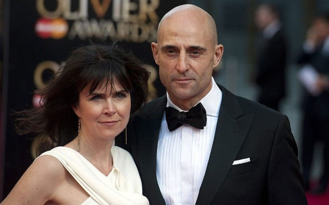 Mark Strong Liza Marshall Oliviers 2014