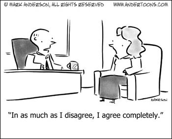 Agree disagree cartoon