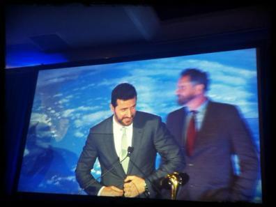 RA accepting saturn award