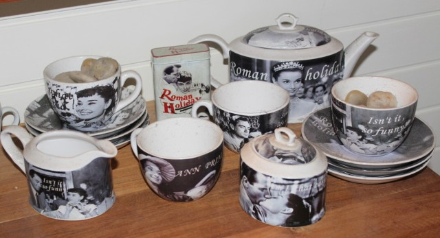 Roman Holiday tea set