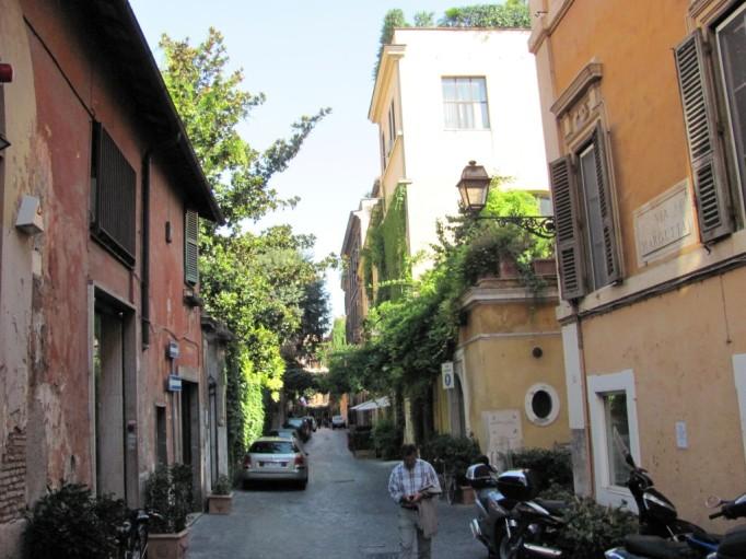 Rome Via Margutta street