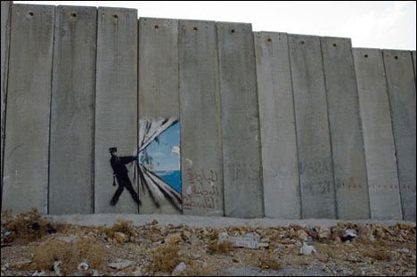 Banksy Wall Art banksy west bank wall art | the book of esther