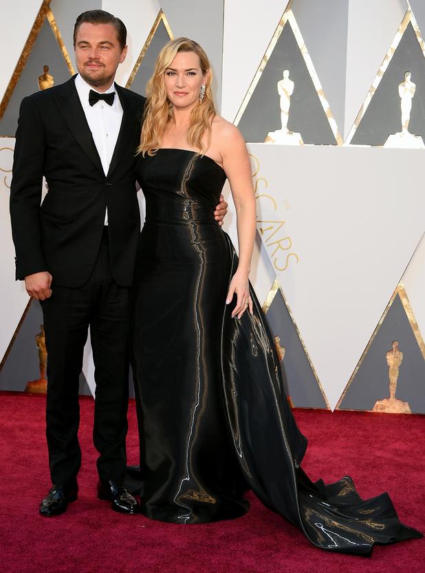 ¿Cuánto mide Kate Winslet? - Altura - Real height Leonardo-dicaprio-kate-winslet-oscars-2016