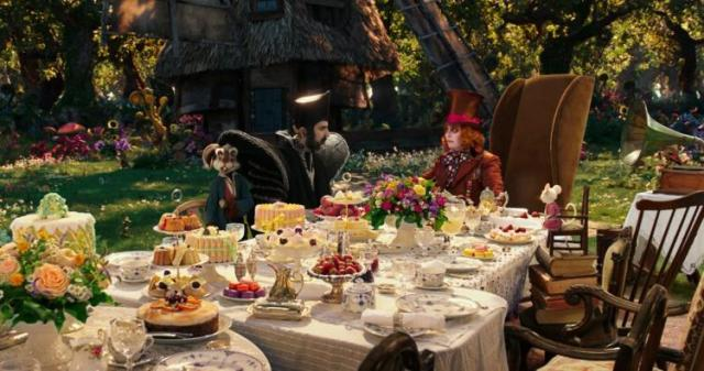 Alice tea party hatter time