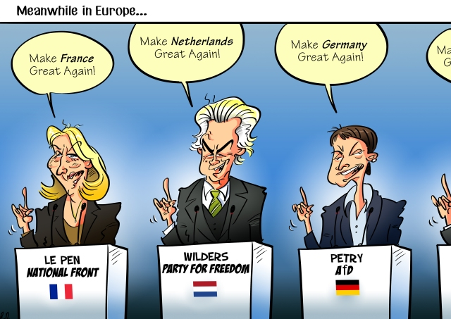 marine-le-pen-geert-wilders-frauke-petry-far-right-populist-europe-elections-cartoon
