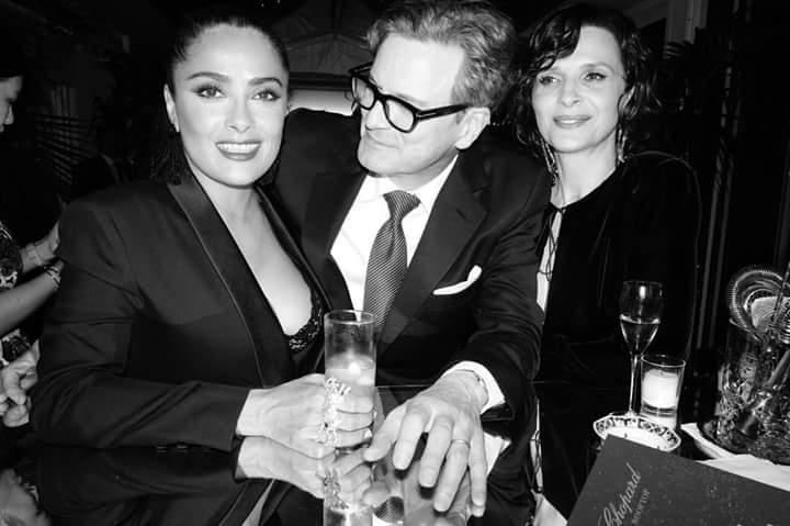 Colin Firth Salma Hayek Juliette Binoche Cannes 2017