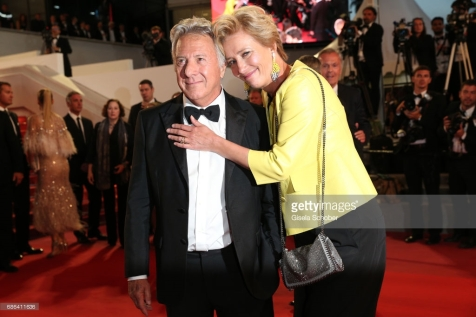 """departs the """"The Meyerowitz Stories"""" screening during the 70th annual Cannes Film Festival at Palais des Festivals on May 21, 2017 in Cannes, France."""
