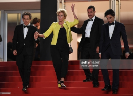 "departs the ""The Meyerowitz Stories"" screening during the 70th annual Cannes Film Festival at Palais des Festivals on May 21, 2017 in Cannes, France."