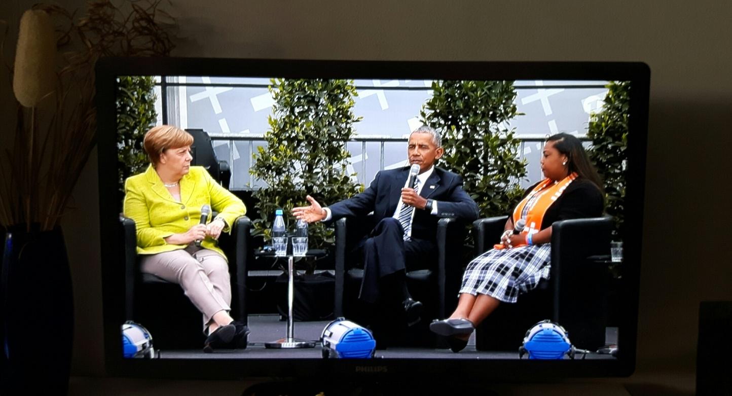 Obama Merkel TV