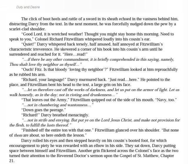 Duty & Desire excerpt