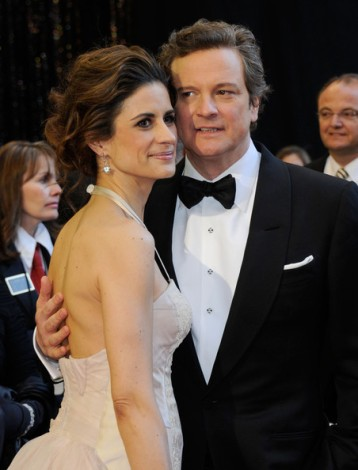 Colin & Livia Firth Oscars red carpet (1)