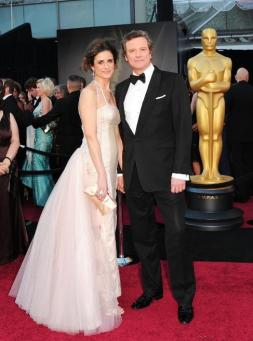 Colin & Livia Firth Oscars red carpet (2)