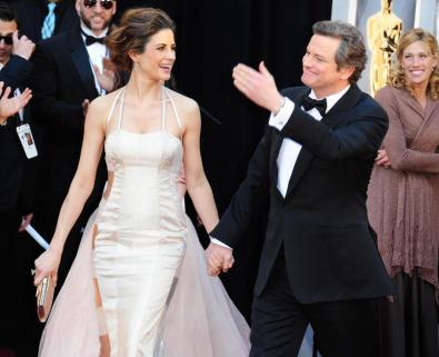 Colin & Livia Firth Oscars red carpet (3)