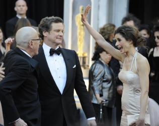 Colin & Livia Firth Oscars red carpet (4)