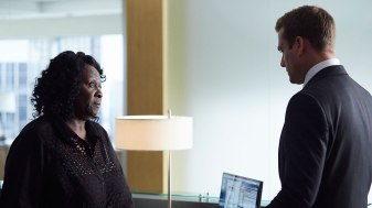 SUITS -- Episode 507 -- Pictured: (l-r) -- (Photo by: Shane Mahood/USA Network)