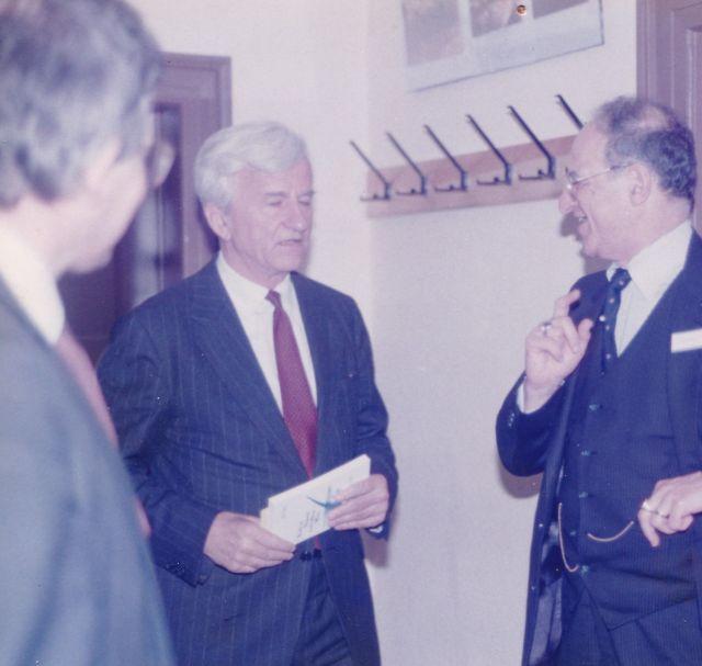1985 Von Weizsäcker in Buber House