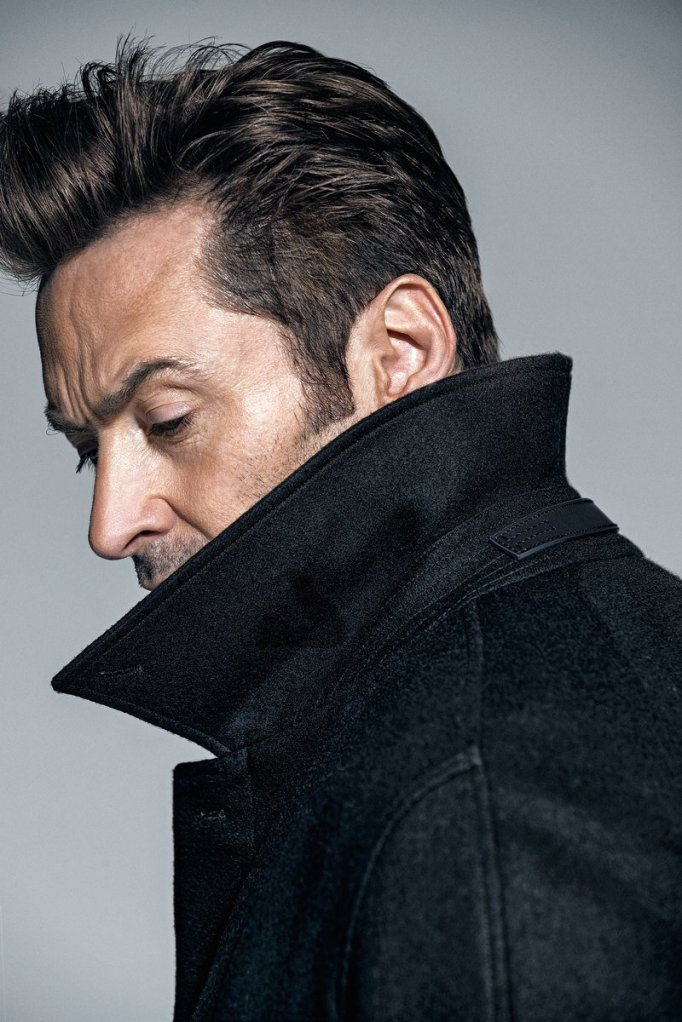 Hugh Jackman black coat
