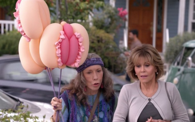 grace frankie balloons