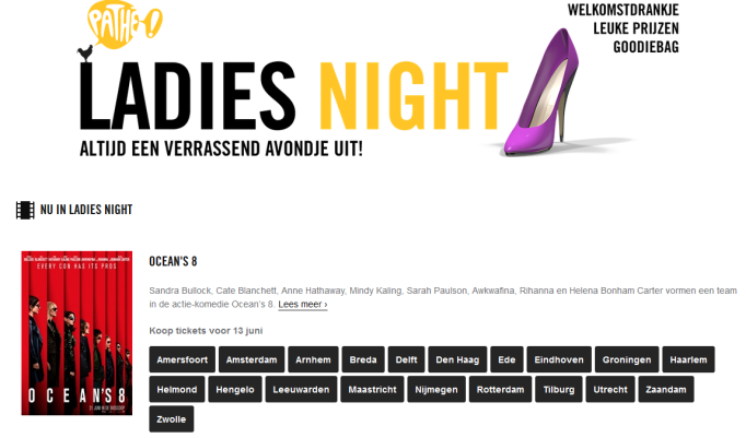 O8 ladies night