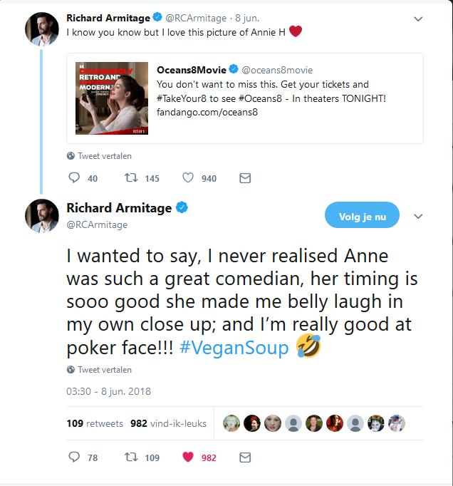 RA Anne Hathaway tweets 8-6-2018