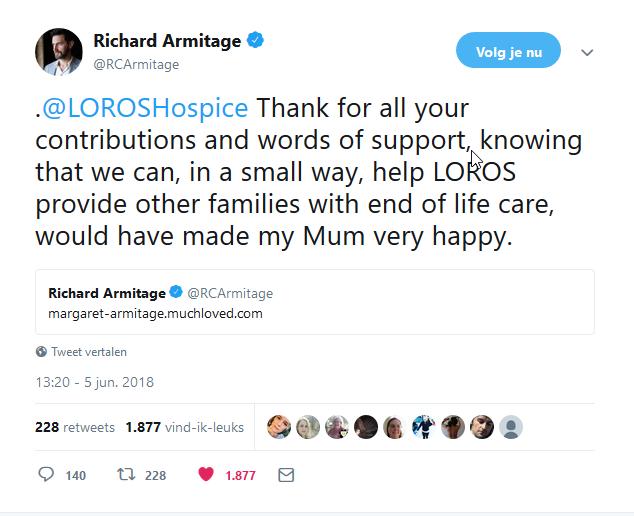 RA thanks for LOROS 5-6-2018