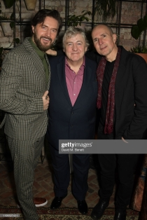 "LONDON, ENGLAND - JANUARY 23: (L to R) Richard Armitage, Peter Wight and Ian Rickson attend the press night after party for ""Uncle Vanya"" at Sophie's on January 23, 2020 in London, England. (Photo by David M. Benett/Dave Benett/Getty Images)"