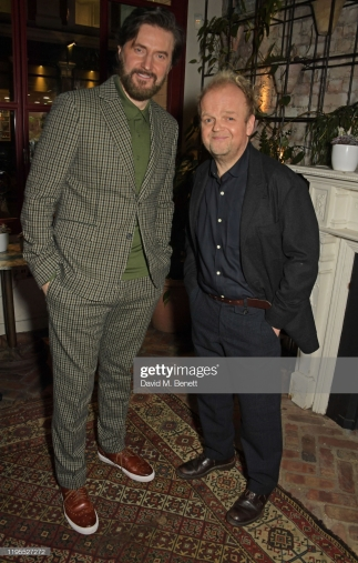 "LONDON, ENGLAND - JANUARY 23: Richard Armitage and Toby Jones attend the press night after party for ""Uncle Vanya"" at Sophie's on January 23, 2020 in London, England. (Photo by David M. Benett/Dave Benett/Getty Images)"