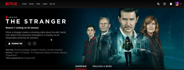 Netflix The Stranger RA