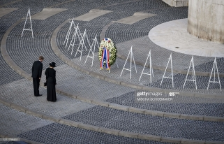 Netherlands' Queen Maxima and King Willem-Alexander arrive to pay their respects during a wreath-laying ceremony on May 4, 2020 in Amsterdam on Dam Square to attend the National Remembrance Day commemoration which will take place without audience nor invitees because of the spread of the COVID-19 disease caused by the novel coronavirus. (Photo by Mischa Schoemaker / various sources / AFP) / Netherlands OUT (Photo by MISCHA SCHOEMAKER/ANP/AFP via Getty Images)